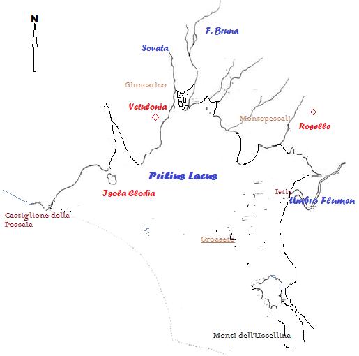 Mappa Lago Prile