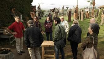 Zeno e il suo atelier di scultore in Maremma