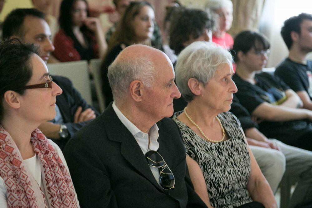 la sorella e i genitori di silvia giuntoli alla cerimonia