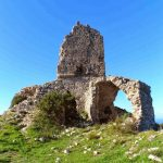 Hiking in Maremma Tuscany. The Capo d'Uomo Ruins at Monte Argentario